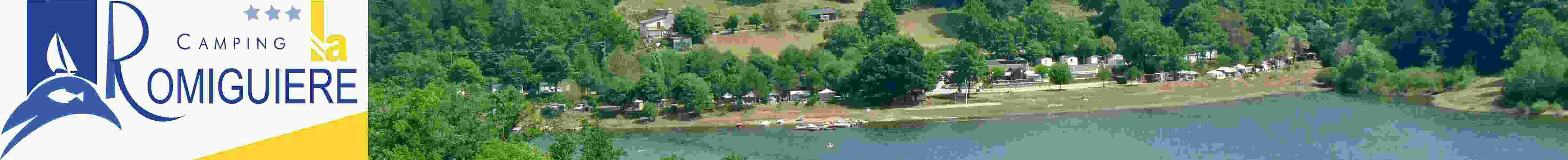 Camping La Romiguiere by the lake in Aveyron