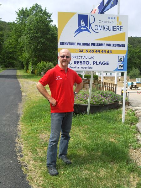 Stephane - the boss of Camping La Romiguiere