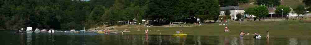 The beach and the Pontoon at Camping La Romiguiere
