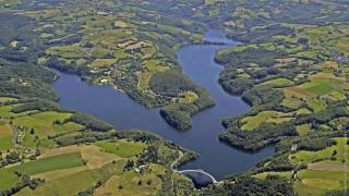 la lac de la selve vue aerienne