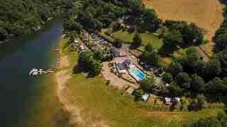 le camping vu de drone