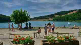 petanque au bord du lac